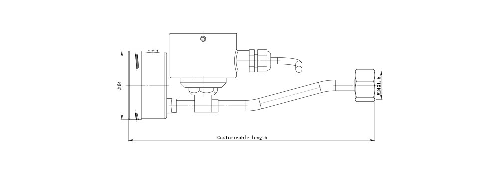 drawing of dm60r remote transmission density monitor