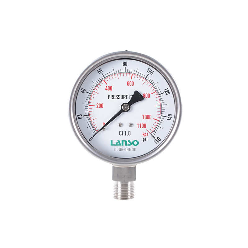 B12.SA Stainless Steel Pressure Gauge – Safety Design